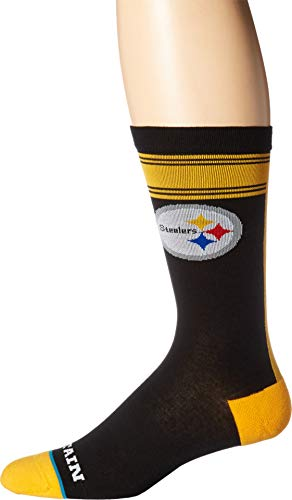 (Stance Men's Pittsburgh Steel Curtain Black Large)