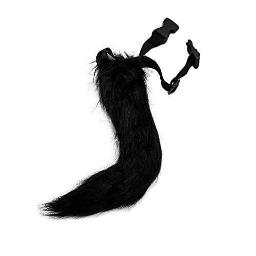 BANLAN Faux Fur Fox Costume Cat Tail Children/Adult Cosplay Halloween Christmas Party Costume One Size Black ()