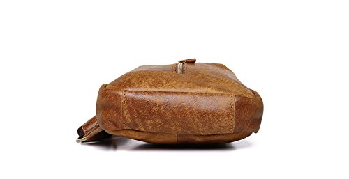 para Bolsa piel marrón rojo de color de Joyir hombres fxZ7xwTqR