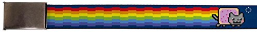 "Buckle-Down Buckle-Down Web Belt Nyan Cat 1.0"" Accessory, -Nyan Cat, Kids"