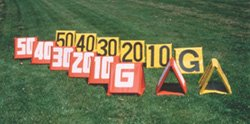Football Deluxe Sideline Markers - Set of (Set Sideline Markers Field Equipment)