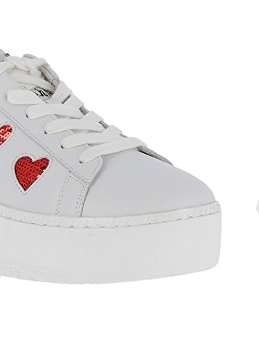 für CUTE01 Leder aus Weiße Damen Sneakers xd4wqqSY