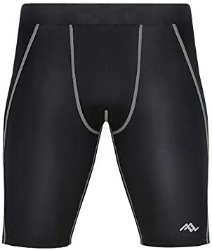 短いフィットネス ショーツトレーニング高弾性を実行しているメンズ速乾性の圧縮パンツスポーツフィットネス スポーツショーツ (色 : White, Size : XXXL)