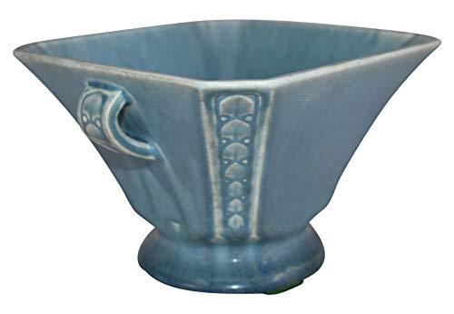 (Rookwood Pottery 1926 Blue Handled Art Square Ceramic Vase 2741)