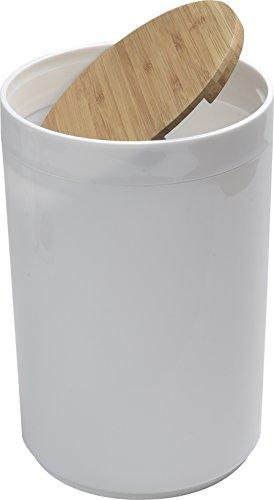 EVIDECO Round Bathroom Floor Trash Can Padang,