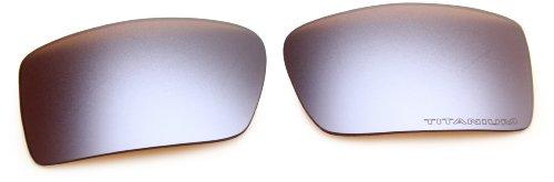 Oakley Gascan 13-666 Iridium Rimless Sunglasses,Multi Frame/Titanium Lens,One Size ()