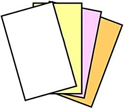 125 Sets (1 Ream) of 4 Part Legal Size Reverse Collated NCR Paper