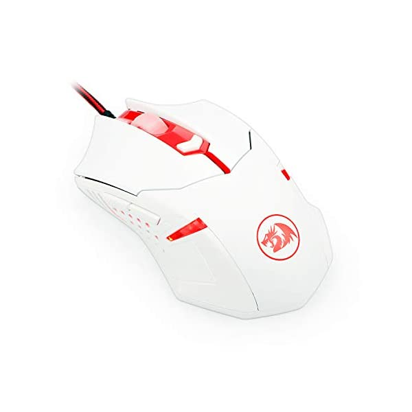 Redragon M601WA Wired 6 Button Gaming Mouse Red LED Backlit Ergonomic Programmable Mouse Centrophorus with Weight Tuning…