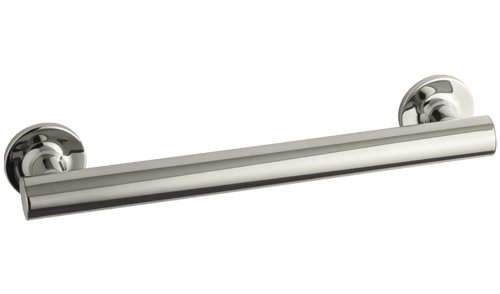 KOHLER K-11891-SN Purist 12-Inch Grab Bar, Vibrant Polished Nickel by Kohler
