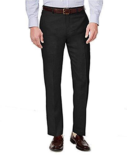 Lauren by Ralph Lauren Men's Classic-Fit Solid Linen Dress Pants (34W x 30L) Black ()