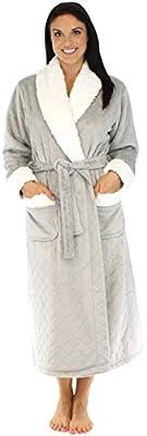 PajamaMania Women's Plush Fleece Luxury Long Robe