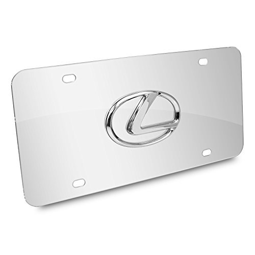 Lexus 3D Logo Chrome Stainless Steel License Plate - Lexus License Plate