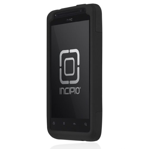 Incipio Silicrylic Hybrid Case - Incipio HT-205 HTC EVO Design 4G/Hero S SILICRYLIC Hard Shell Case with Silicone Core - 1 Pack - Retail Packaging - Black/Black