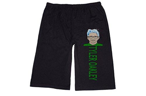 XINJX Men's tyler oakley pop art Lounge breeches Shorts Pants XL Black XL - Most Oakleys Popular