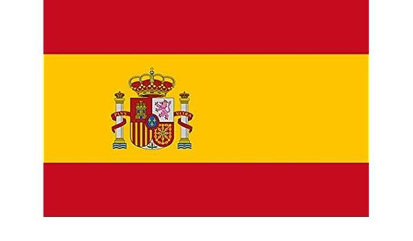 Bandera de España 120x180 cm con escudo: Amazon.es: Hogar