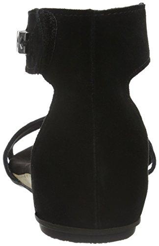Marco Tozzi 28116 - Sandalias con Cuña Mujer Negro (BLACK 001)