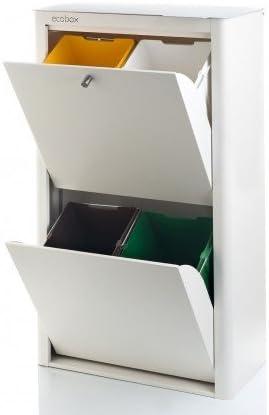 DON HIERRO - CUBEK - Cubo de basura y reciclaje lacado, con 4 compartimentos.