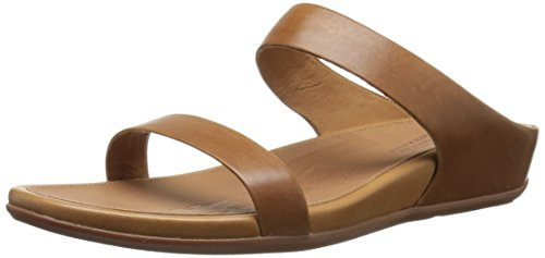 FitFlop Women's Banda Slide Dress Sandal, Tan, 9 M US by FitFlop