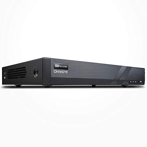 ONWOTE 16CH H.265 5MP HD PoE Security NVR Video Recorder, Onvif, Support Video & Audio, Support 5MP, 4MP, 1080P, Multi-Mode Recording, 16 Channel Simultaneous Playback, NO Hard Drive