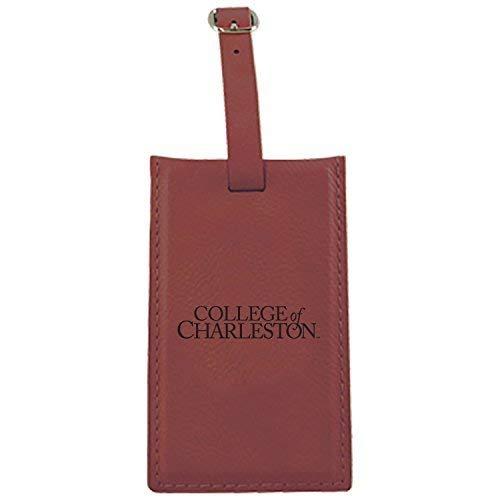 College of charleston-leatherette Luggage tag-burgundy   B013VZMKKI
