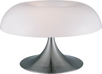 Lite Source LS-2901PS/WHT Pliant Table Lamp, Polished Steel with White Acrylic Spiral Shade (Steel Lamp Polished Torchiere)