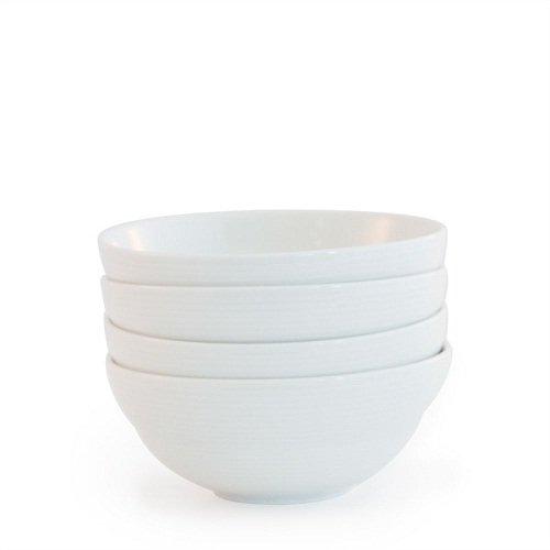 Bambeco Brasserie Porcelain Cereal Bowl, 4 Count