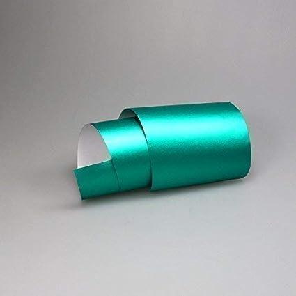 TipTopCarbon 16,45/€//m/² Chrom Autofolie Matt Ice T/ürkis 0,3m x 1,52m Auto Folie BLASENFREI mit Luftkan/älen 3D Flex