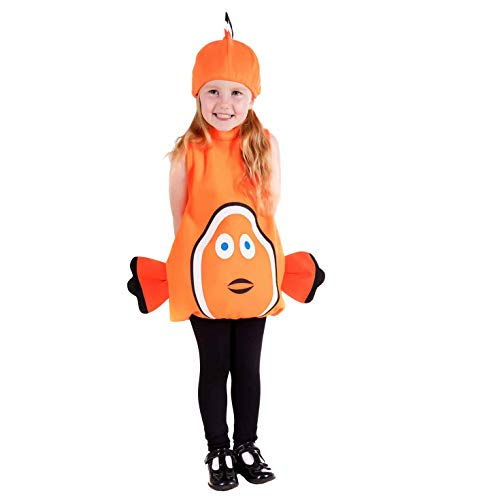 Toddlers Clown Fish Costume Kids Unisex Cute Sea Animal Tunic Outfit - 1-2 Years