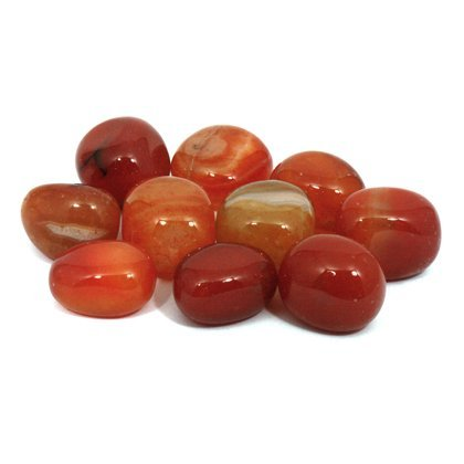Carnelian Tumble Stone (Brazilian) (20-25mm) Pack of 10 - by CrystalAge