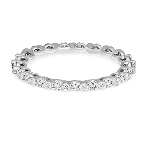 lab made diamond wedding band - 7