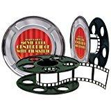 Movie Reel with Filmstrip Centerpiece, 9-inch (Pkg of 3)