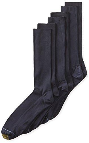 - Gold Toe Men's Metropolitan Extended Sock, 3 Pack,Navy,13-15