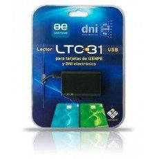 C3PO Izenpe LTC31 USB USB 2.0 Negro - Lector de Tarjetas de Memoria (USB 2.0, Windows OS, Gnu/Linux OS, Mac OS X, Unix)