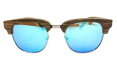 Sunglasses – Wood Sunglasses, UV 400 Polarized Veneer Wood Vintage Eyewear for Women & Men (Grey, - Wood Veneer Sunglasses