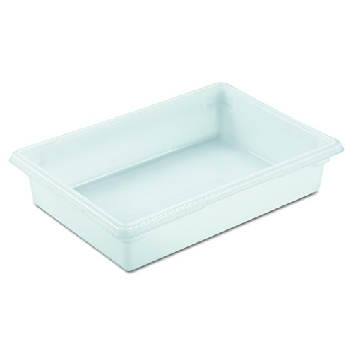 Rubbermaid 3508 WHI 26'' Length x 18'' Width x 6'' Depth, 8-1/2 gallon White HDPE Food/Tote Box (6 per Carton) by Rubbermaid Commercial Products