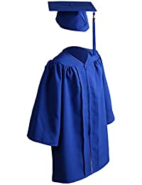 Unisex Matte Kindergarten Graduation Gown Cap Tassel Set 2020