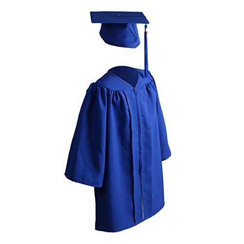 OSBO GradSeason Unisex Matte Kindergarten Graduation Gown Cap Tassel Set