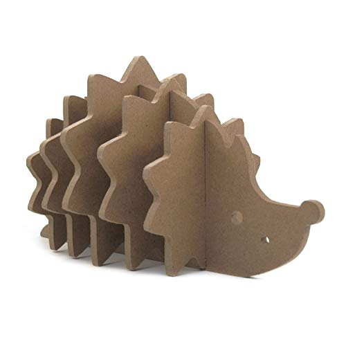 (Riverbyland Coasters Wooden Cute Hedgehog Shaped)