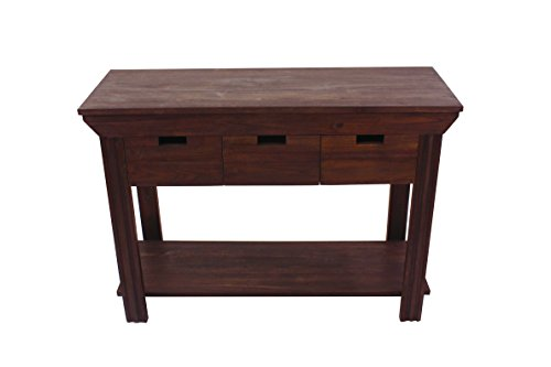 NES Furniture Nes Fine Handcrafted Furniture Solid Teak Wood Octo TV Stand / Console Table - 43