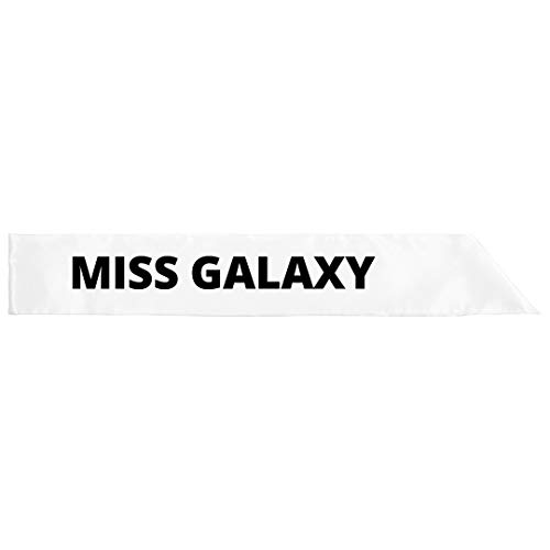 Miss Galaxy: Adult Satin Party Sash -