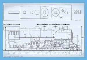 Sante Fe Mikado Type Locomotive Fine art canvas print (20