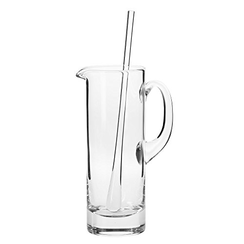 Household Essentials KROSNO Handmade Bond Martini Pitcher and Stirrer, 30 oz, Clear
