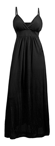 eVogues Plus Size Sexy Black Cocktail Maxi Dress - 3X