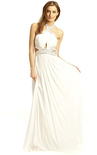 White IKRUSH Abend Polly Kleid Womens Maxi xnxqYfBg
