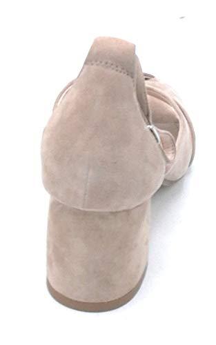741z30 Daim À Sandale 5cm Cheville Chaussure Taupe Taille En 38 Talon Noire De Bride Large La Bibilou Couleur dtqUHd