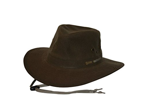 (Outback Trading Co Men's Co. Oilskin River Guide Hat Brown Large)