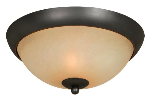 Hardware House 543744 Berkshire 12-Inch by 5-1/4-Inch Ceiling Lighting Fixture, Classic Bronze