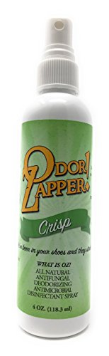 Odor Zapper Disinfectant Spray - For use in Shoes, Gym Bags, Yoga Mats and More! -