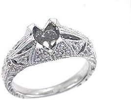 0.2 CTW Diamond Semi Mount Ring in Platinum Gold
