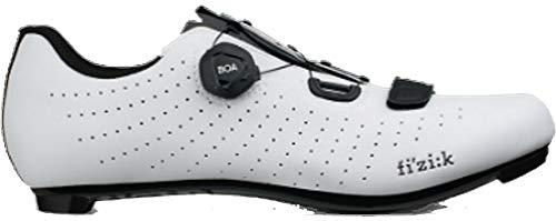 Fizik Tempo R5 Overcurve Cycling Shoe, White/Black- 45, White/Black